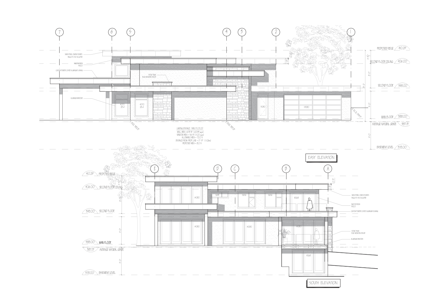 Blueprints of an upcoming design and build project in Vancouver